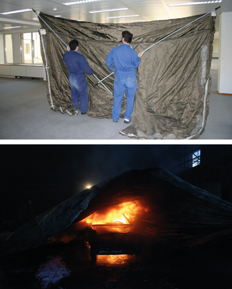 extinguishment fireproof blanket