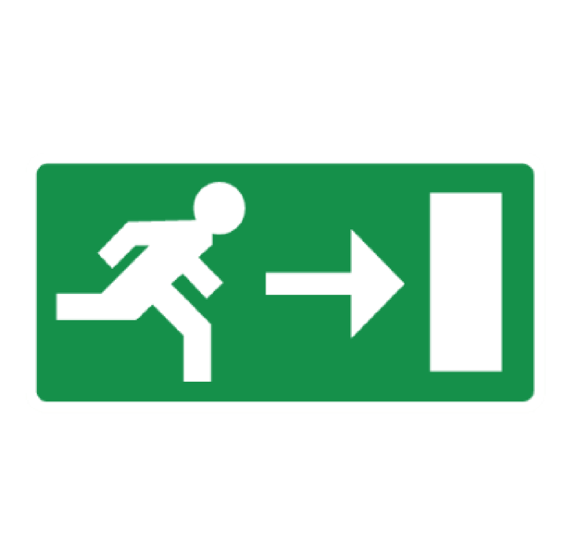 pictogramme evacuation